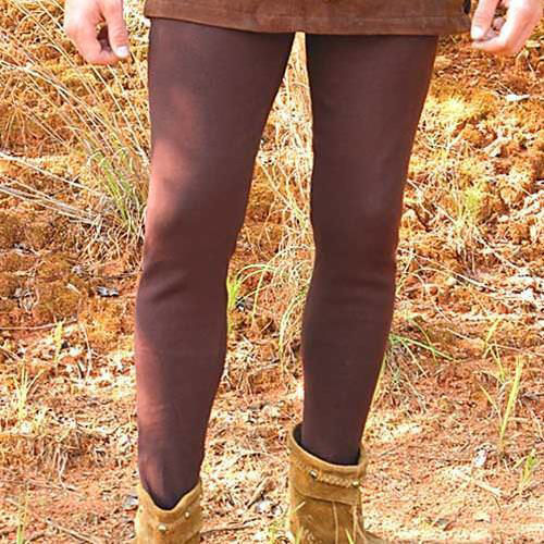 Mens brown cotton tights