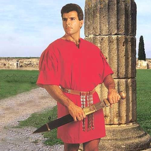 Museum Replicas Roman Legion Tunic Red Halloween Costume