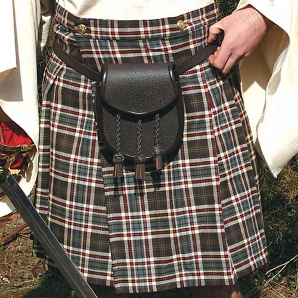Brown Pleated Scottish Kilt
