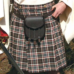 Brown Pleated Scottish Kilt