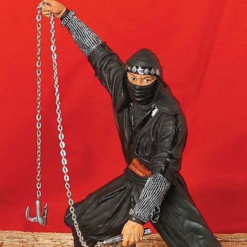 Picture of Ninja in Black w/ Hook Statue