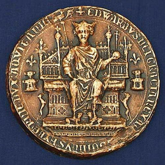 Picture of First Great Royal Wax Seal of Edward III