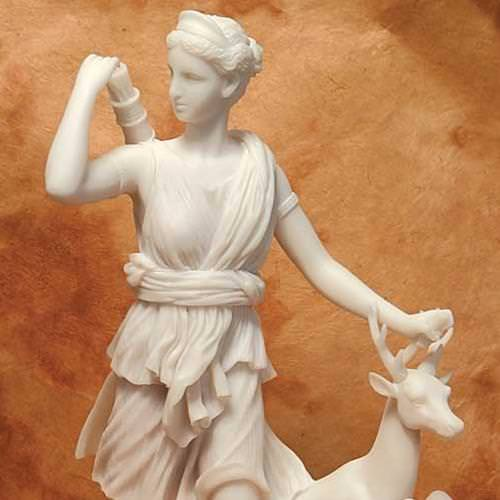 Picture of Goddess Diana with Deer