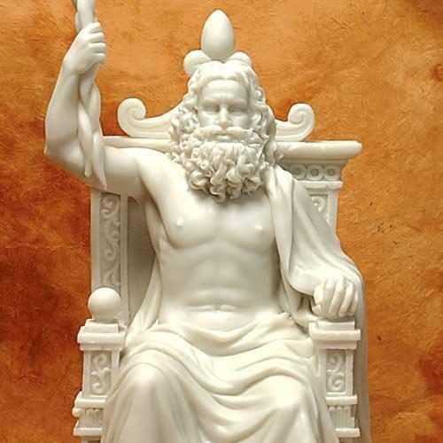 Picture of Greek God Statue Zeus