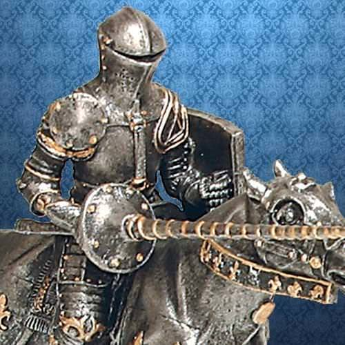 Picture of Jousting Knight Statue