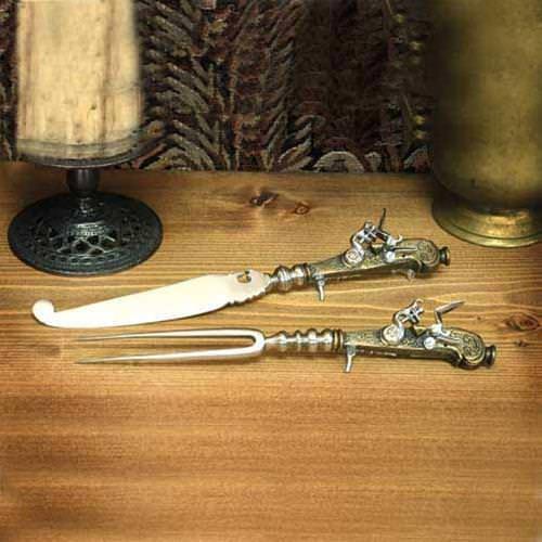 Picture of Flintlock Knife & Fork Gun Set