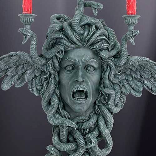 Picture of Medusa Wall Plaque Candle Holder