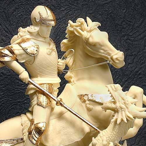 Picture of St. George and the Dragon Statue