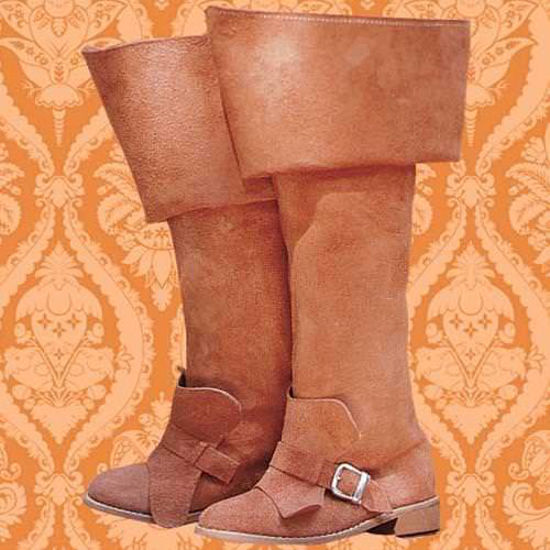 Picture of Brown Suede Musketeer Boots