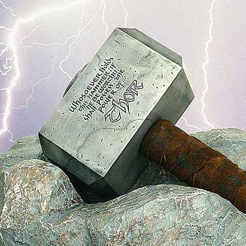 "Picture of Classic ""Battle Worn"" Hammer of the Mighty Thor"