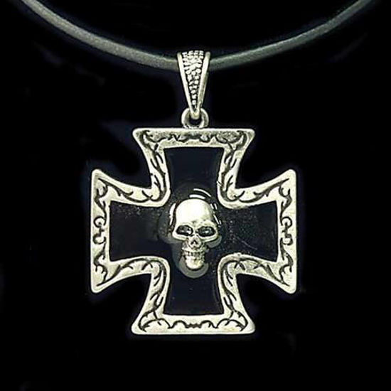 Picture of Pirate Pendant Skull w/ Maltese Cross