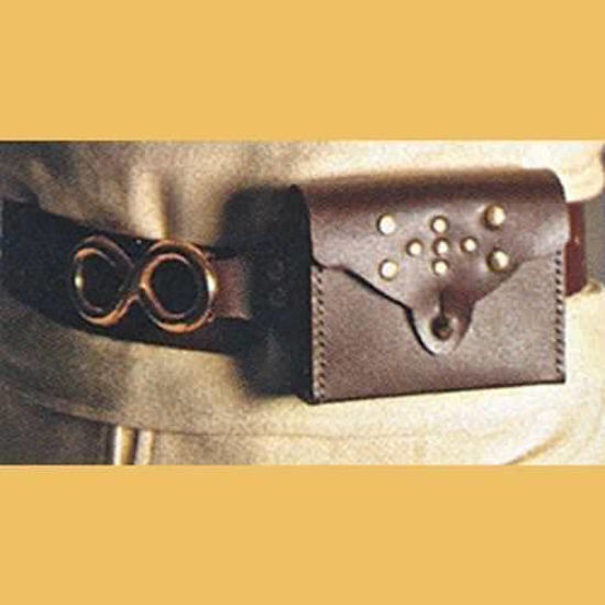 Picture of Studded Leather Belt with Pouch