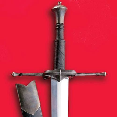 German Bastard Sword - Antiqued grip & guard