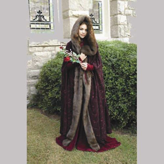 Picture of Sibylla Faux Fur Trimmed Cape