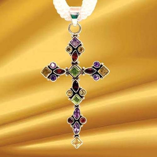 Picture of Sterling Beauty Renaissance Cross