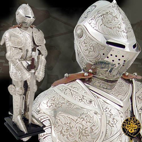 Picture of Knight in Embossed Armour Statue