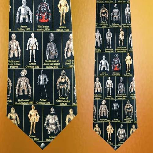 Picture of Museum Artifacts Armor Silk Tie