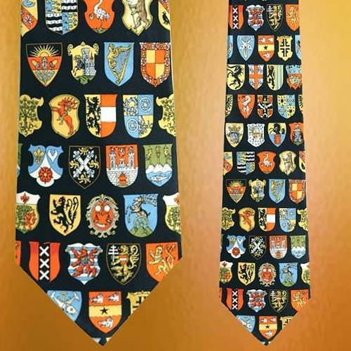 Picture of Museum Artifacts Coat of Arms Silk Tie