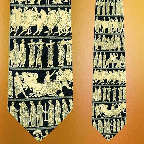 Picture of Museum Artifacts Greek Silk Tie