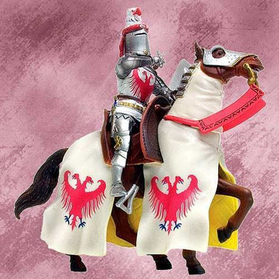 Picture of English Knight & War Horse Figurine