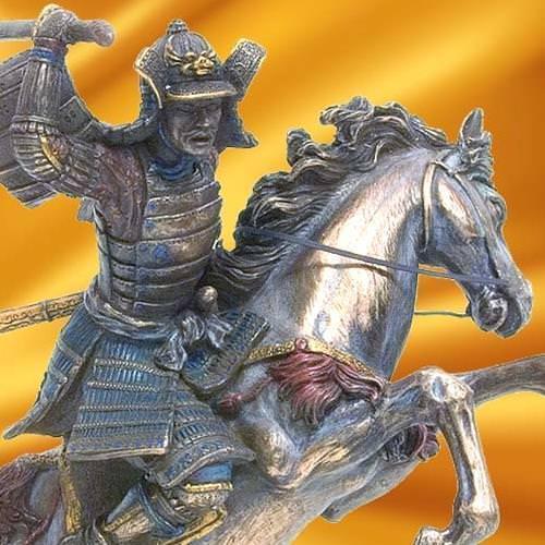 Picture of Samurai Swordsman on Horse