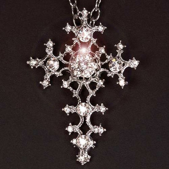 Picture of Crystal Gothic Cross Pendant