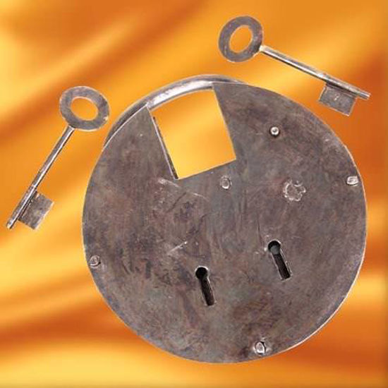 Picture of Medieval Pancake Padlock, Large