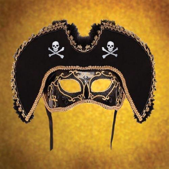 Picture of Black Pirate Mask