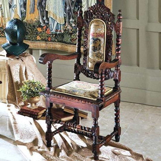 Picture of Hand Carved Mahogany Throne