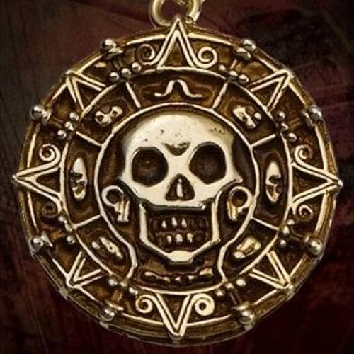 Picture of Elizabeth Swann Aztec Coin Necklace Replica