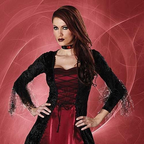 Picture of Gothic Vampira Complete Vampire Costume