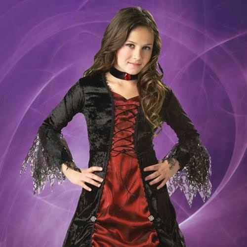 Picture of Gothic Vampira Girl's Costume