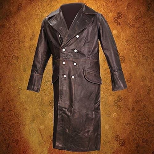 Picture of German WWII Leather Greatcoat - Brown