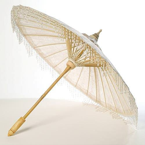 Picture of Bejeweled Off White Parasol