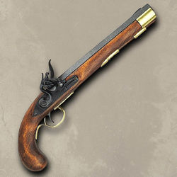 Non Firing Replica Military Flintlock Pistol