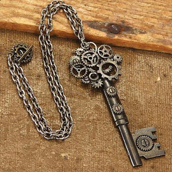 Picture of Large Key Steampunk Necklace