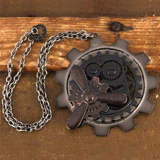 Picture of Large Gear / Propeller Steampunk  Pendant