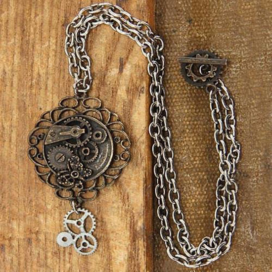 Picture of Butterfly Gear Steampunk Necklace