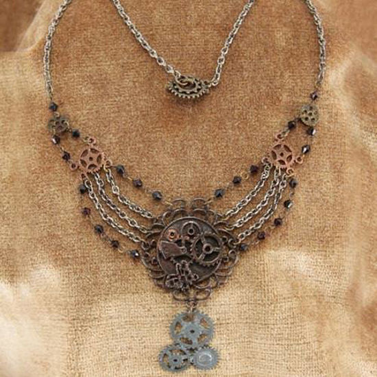 Picture of Chains & Gears Steampunk Necklace