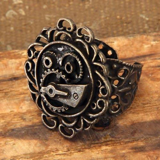 Picture of Single Gear Steampunk Ring