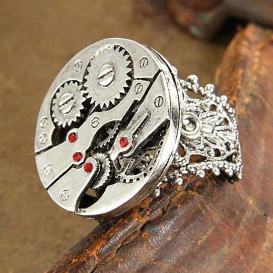 Picture of Watch Gears Silver Steampunk Ring