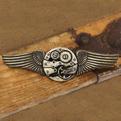 Picture of Steampunk Winged Gear Pin