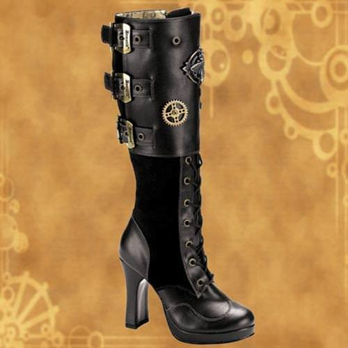 Picture of Crypto Buckles and Gears Steampunk Platform Boots
