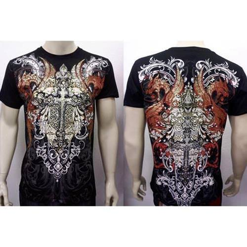 Picture of Dragon Cross Short Sleeve  T-Shirt