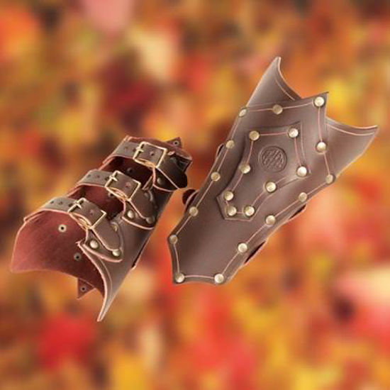 Picture of Gothic Leather Vambraces