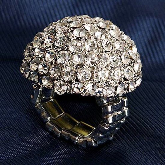 Picture of Jeweled Dome Adjustable Ring