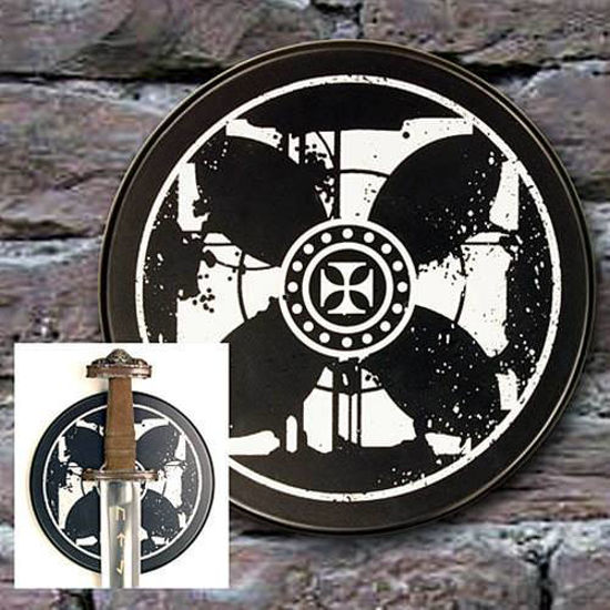 Picture of Templar Cross Sword Plaque - Round