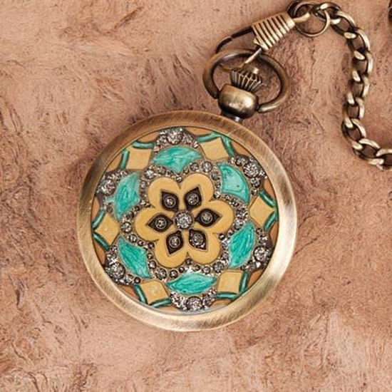 Picture of Floral Inlay Pocket Watch