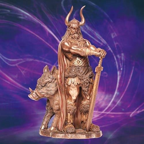 Picture of Viking God Freyr Statue
