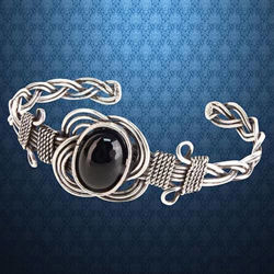 Picture of Celtic Onyx Knot Bracelet
